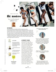 ELLE Fit NOtes